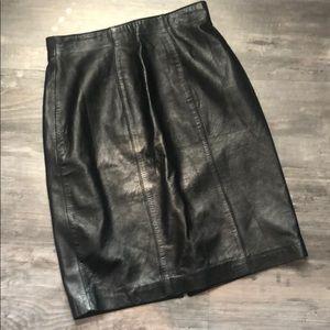 Evan Davies Vintage Leather Pencil Skirt Size 6